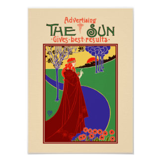 Advertising in The Sun- Louis Rhead Poster