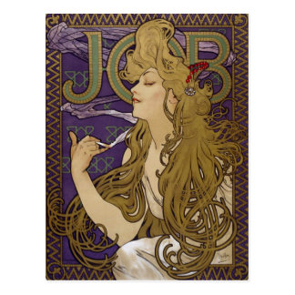 Advertising Lithograph by Alphonse Mucha Postcard