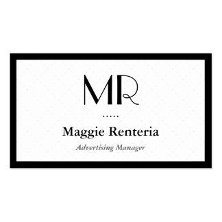 Advertising Manager - Clean Stylish Monogram Business Card