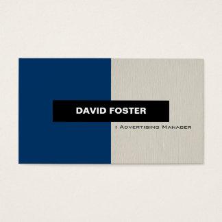 Advertising Manager - Simple Elegant Stylish Business Card