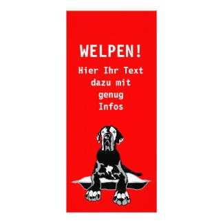 Advertising map with Doggenlogo Custom Rack Cards
