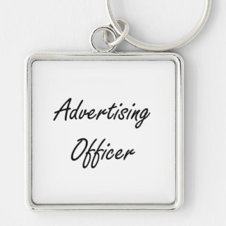 Advertising Officer Artistic Job Design Silver-Colored Square Keychain