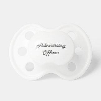 Advertising Officer Classic Job Design BooginHead Pacifier