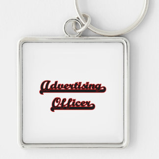 Advertising Officer Classic Job Design Silver-Colored Square Keychain