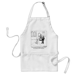 Advertising on a Wedding Gown Adult Apron