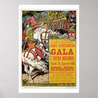 Advertisment for the 'Fetes de Paris' Poster