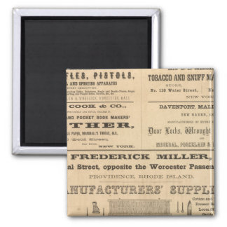 Advertisments by nine companies 2 inch square magnet