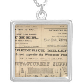 Advertisments by nine companies square pendant necklace