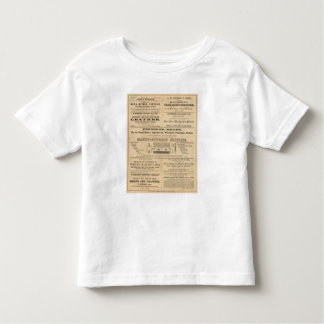 Advertisments by nine companies toddler t-shirt