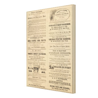 Advertisments by ten companies canvas print