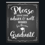 "advice and well wishes graduation party sign<br><div class=""desc"">advice and well wishes graduation party sign</div>"