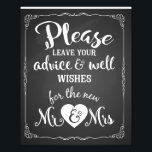 "advice and well wishes party wedding sign<br><div class=""desc"">advice and well wishes party wedding sign</div>"