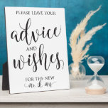 """Advice and Well Wishes Wedding Decor Sign Plaque<br><div class=""""desc"""">Modern and elegant advice and well wishes sign perfect for your wedding reception!</div>"""