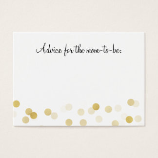 Advice Card Baby Shower Gold Foil Glitter Lights