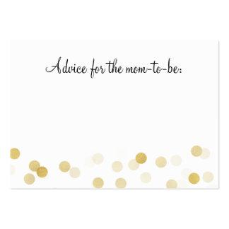 Advice Card Baby Shower Gold Foil Glitter Lights Large Business Card