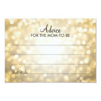 Advice Card Baby Shower Gold Glitter Lights