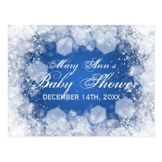 Advice Card Baby Shower Night Sparkle Blue Postcards