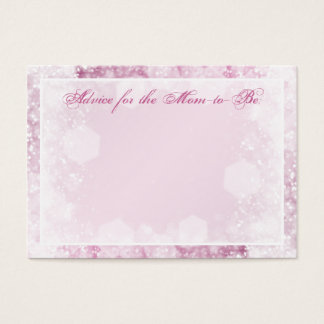 Advice Card Baby Shower Night Sparkle Pink