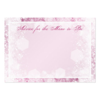 Advice Card Baby Shower Night Sparkle Pink Large Business Cards (Pack Of 100)