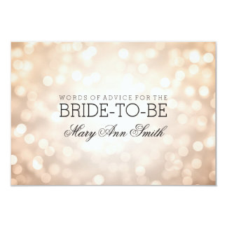 Advice Card Bridal Shower Copper Glitter Lights