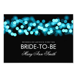 Advice Card Bridal Shower Turquoise Hollywood Glam