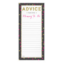 Advice Card for Mom-To-Be, Baby Shower, 25 Pack