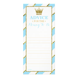 Advice Card for Mom-To-Be, Baby Shower, Faux Gold