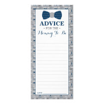 Advice Card for Mom-To-Be, Little Man Baby Shower