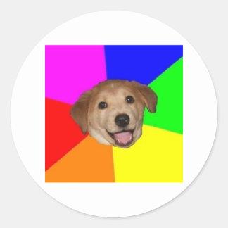 Advice Dog Advice Animal Meme Classic Round Sticker