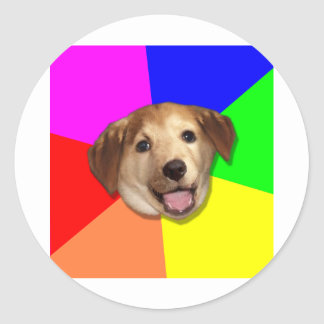 Advice Dog Meme Any Way You Want! Classic Round Sticker