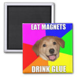 ADVICE DOG MEME: THE FRIDGE IS EMPTY REFRIGERATOR MAGNET