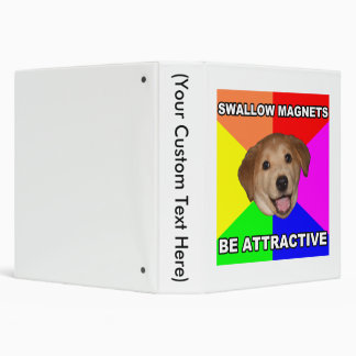 Advice Dog Swallow Magnets 3 Ring Binder