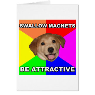Advice Dog Swallow Magnets Greeting Card