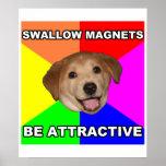 Advice Dog Swallow Magnets Print