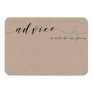 Advice for bride and groom card | kraft card