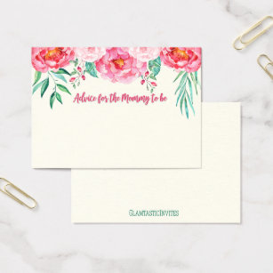 Mom business cards templates zazzle advice for mom card mom to be floral card colourmoves