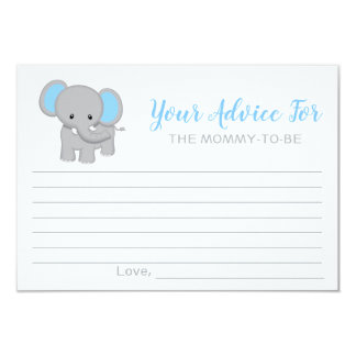 Advice for Mommy-to-Be | Chevron Baby Shower Card