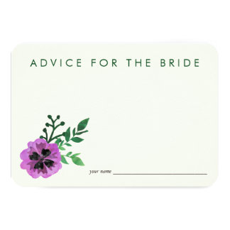 Advice for the Bride Cards | Purple Pansy