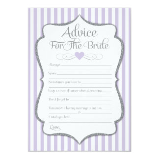 Advice For The Bride Lavender Lilac Bridal Shower Card