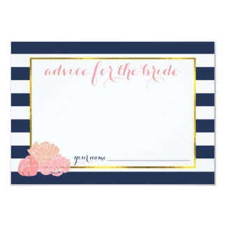 Advice for the Bride | Midnight Blush Peony 3.5x5 Paper Invitation Card