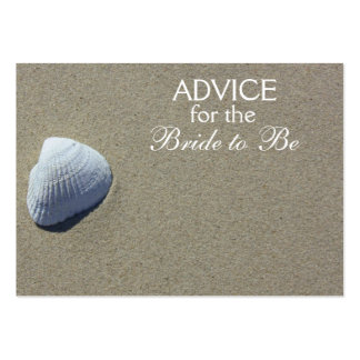 Advice for the Bride to Be Beach Sea Shell Cards Business Card Template