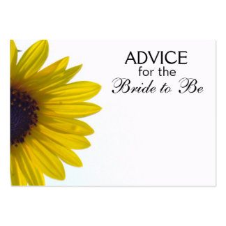 Advice for the Bride to Be Giant Sunflower Cards Large Business Card