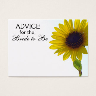 Advice for the Bride to Be Tall Sunflower Cards