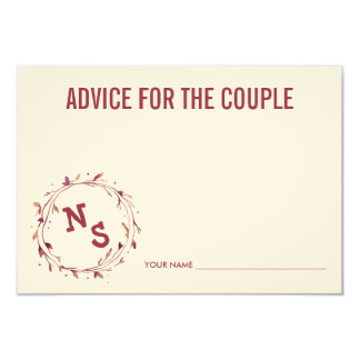 Advice for the Couple   Black Stripe & Gold Peony Card