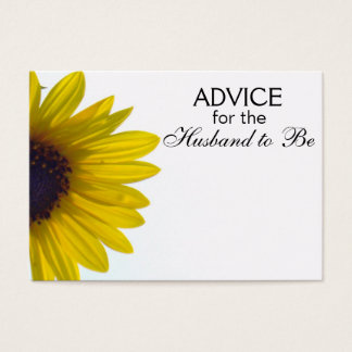 Advice for the Husband to Be Giant Sunflower Cards