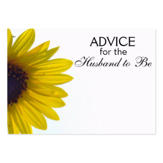 Advice for the Husband to Be Giant Sunflower Cards Large Business Card