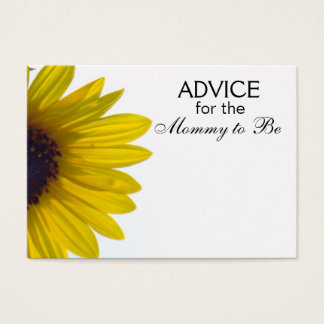 Advice for the Mommy to Be Giant Sunflower Cards