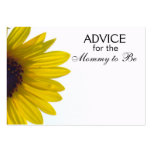 Advice for the Mommy to Be Giant Sunflower Cards Business Card