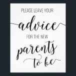 "Advice for the Parents to Be Baby Shower Sign Card<br><div class=""desc"">Perfect addition to a couples baby shower! Let&#39;s people know where to leave and find their advice cards to fill out! Check out the matching advice cards in our shop!</div>"