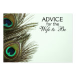 Advice for the Wife to Be Peacock Feather Cards Large Business Cards (Pack Of 100)